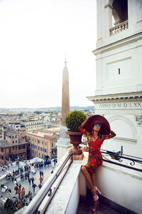 фотосессия в Риме с Галой Борзовой