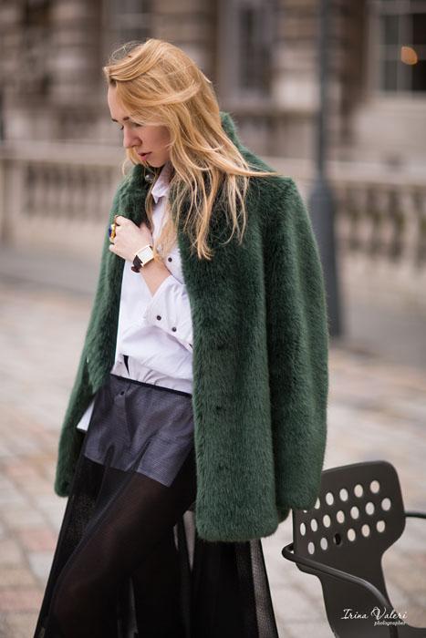 фотосессия с Kamile Kaselyte на Лондонской неделе моды