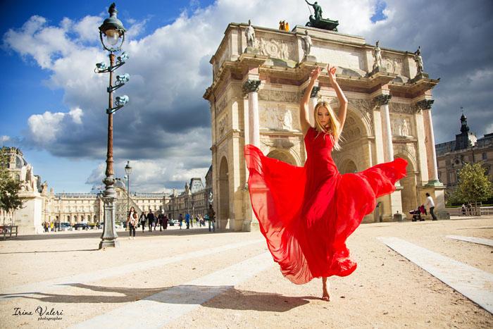 Рекламная фотосессия в Париже