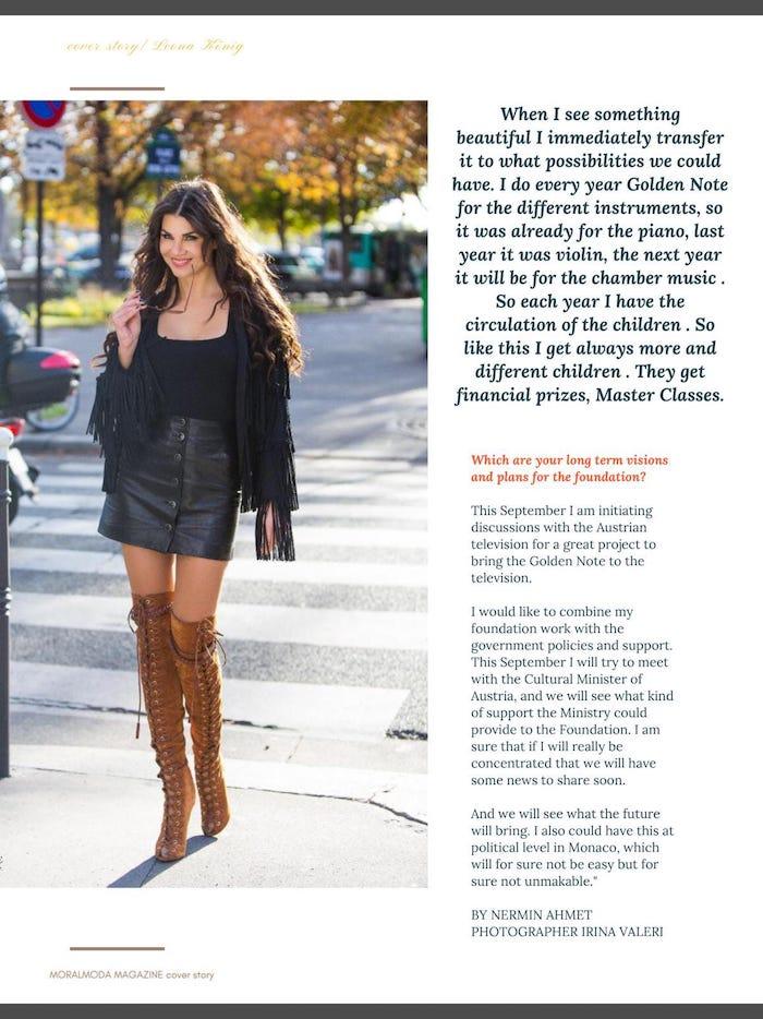 обложка и статья в журнале  MoralModa