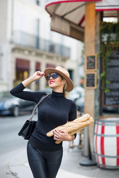 фотосессия с парижским духом и багетами