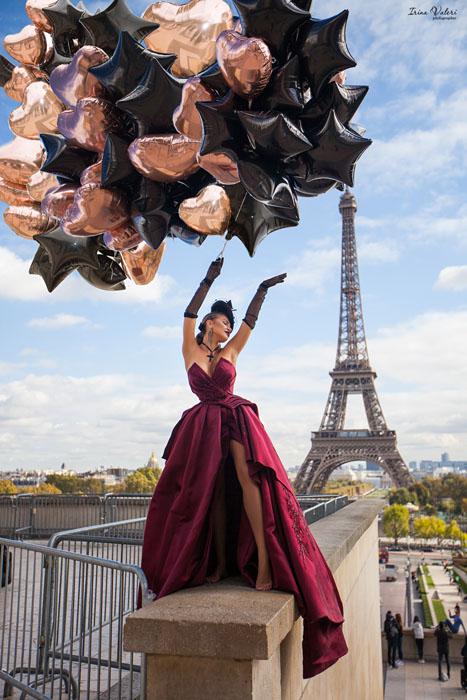 фотосессия для Zuhair Murad в Париже